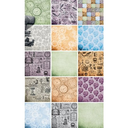 DESIGNER BLÖCKE  / DESIGNER PAPER Papir blok, blok Kronologi papir, 15,2 x 15,2xm