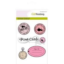 Gennemsigtige frimærker A6, Etiketter + Postkort