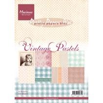 Pad af papir, A5, Vintage Pastels
