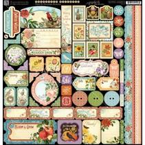 Time to Flourish - Sticker sheet 30,5 x 30,5cm