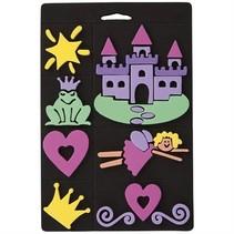 Conjunto de sello de espuma, princesa, para los niños
