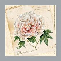 Un ensemble de 5 serviettes de créateurs différents: motifs floraux