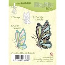 Klare stempler, Leane Creative, sommerfugl