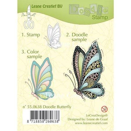 Leane Creatief - Lea'bilities Klare stempler, Leane Creative, sommerfugl