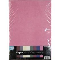 Tekstil mønstre, A4-papir sæt, 10 ark Sortiment
