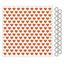 Embossingfolder + plantilla de perforación del corazón