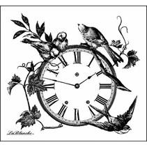 LaBlanche Stamp: horloge florale