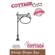 Skæring og prægning stencils, CottageCutz vintage Bliv
