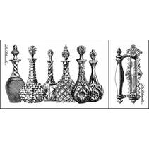 LaBlanche stamp: verre carafes, flacons de parfum (2 timbres)