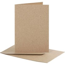 Set: cards and envelopes, card size 7,5x10,5 cm, nature