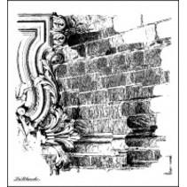 LaBlanche Stamp: mur de briques fond