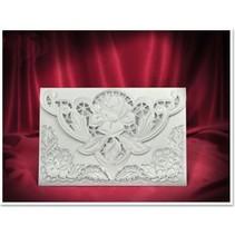 3 Eksklusiv Rose kortet hvide kuverter +