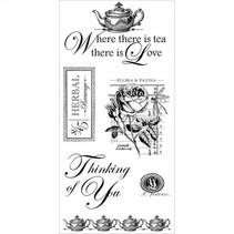 "Rubber stamp, ""Botanical Tea"""
