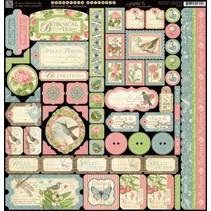 papier Designer, 30,5 x 30,5 cm Stickerbogen