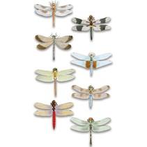 Luxe autocollant 3D libellule, dimensions