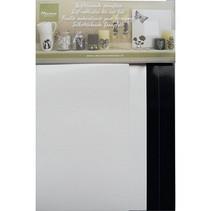 Selbstklebende Stanzfolie, 4 Blatt 2x weiß und 2x schwarz