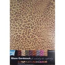 Mønstret papir - Glaze karton Dyr Design