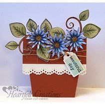 HEARTFELT stamp, romantic branch with leaves + Text