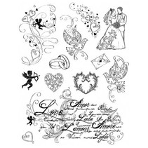 Limpar carimbos, Tema: Amor, casamento