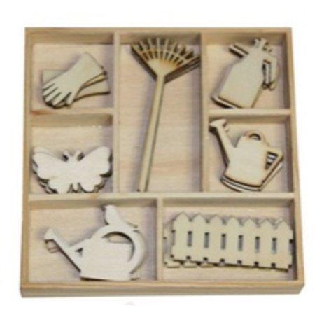 Objekten zum Dekorieren / objects for decorating Caja Botánico Verano, Equipo de Jardinería 35 piezas