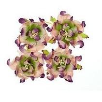 Gardenia 5 cm, 4 stykker, 2 farver, Lilla / grøn