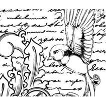Rubber stamp, Gendarmerie IndigoBlu Antique Songbird A6