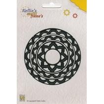 Stansning og prægning skabelon Nellie`s Multiframe cirkel