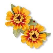 Estampado y Repujado plantilla, Sizzix, ThinLits - Flor, Zinnia