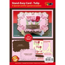 Craft set for design of 1 noble, XL 3D tulips card