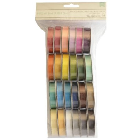 DEKOBAND / RIBBONS / RUBANS ... A set of 24 Satin decorative ribbons, color-coordinated!
