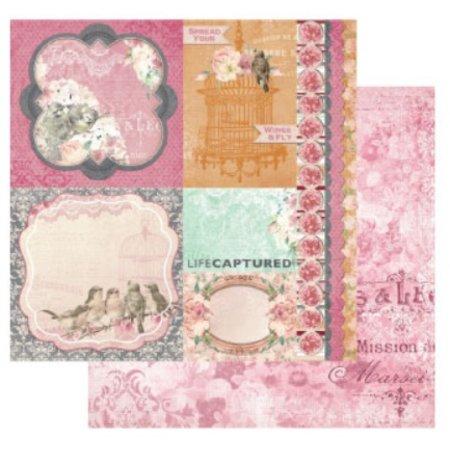 Designer Papier Scrapbooking: 30,5 x 30,5 cm Papier 1 double face-papier imprimé design, 180 gr
