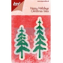 Punching and embossing template, trees