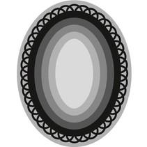 Stansning og prægning skabelon Craftables, 6 ramme Oval