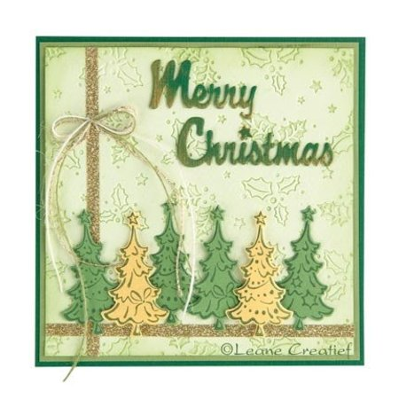 Leane Creatief - Lea'bilities Gennemsigtige frimærker, juletræer
