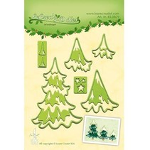Punching and embossing template Lea'bilitie, Christmas trees