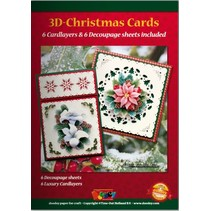 A5 Bastelbuch for 6 3D Christmas cards + 6 Card Layouts