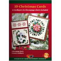 A5 Bastelbuch für 6 3D Weihnachtskarten + 6 Karten Layouts