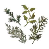 Estampillage et gaufrage pochoir, thinlits Sizzix, Ensemble de 4 branches avec des feuilles