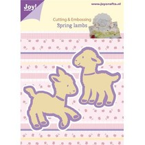 Stamping and embossing stencil, 2 lambs