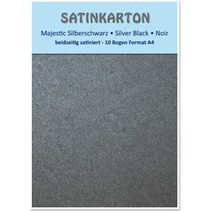 """Satin cardboard A4, double-sided satin 250gr with embossing. / Square meter, """"Majestic"""" silver black"""