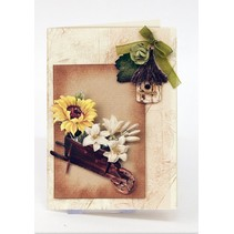 Die cut sheet with garden accessories from card stock, A4