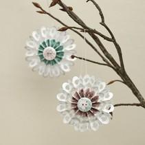 Bastelset, rosettes, D: 8 cm, 6 pieces