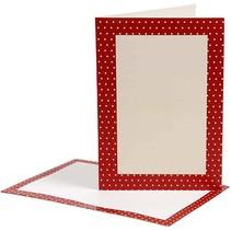 cartes-lettres, la taille de la carte 10,5x15 cm