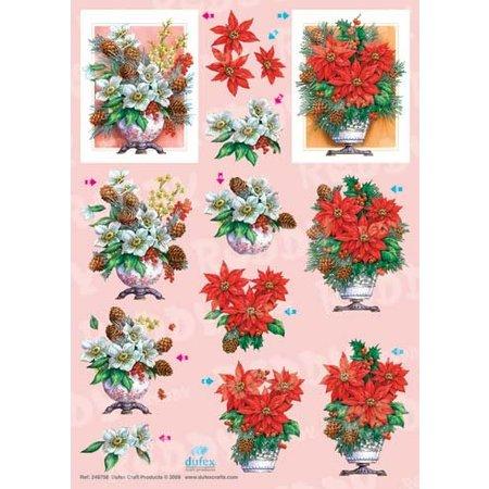 BILDER / PICTURES: Studio Light, Staf Wesenbeek, Willem Haenraets Feuilles A4 Dufex coupées: Bouquets de Noël