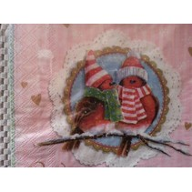 4 designer napkins for decoupage
