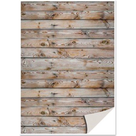 DESIGNER BLÖCKE  / DESIGNER PAPER 5 feuilles de papier cartonné avec imitation bois, mur en bois, carte fond brun avec imitation bois, mur en bois, brun