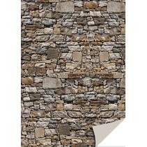 5 hojas de tarjetas con apariencia de piedra, piedra natural, marrón