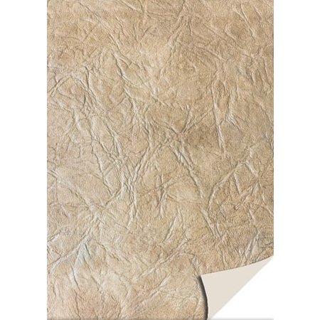 DESIGNER BLÖCKE  / DESIGNER PAPER 5 feuilles cartonné cuir, marron clair