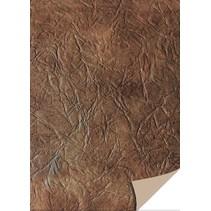 5 hojas de papel de tarjetas de cuero, marrón oscuro