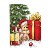 Clear stamps, Teddy avec cadeau